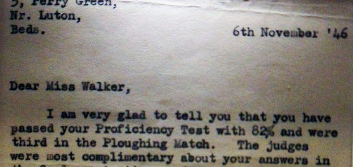 Tractor Proficiency Letter
