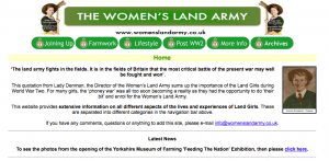 Women's Land Army.co.uk in May 2013
