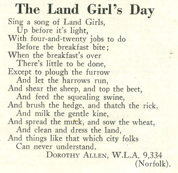 Source: The Land Girl April 1942