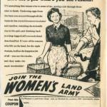 WW2: Women's Land Army Newspaper Recruitment Campaign
