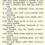WW2 Poem: If (with apologies to Rudyard Kipling) by land girl A Hewlett