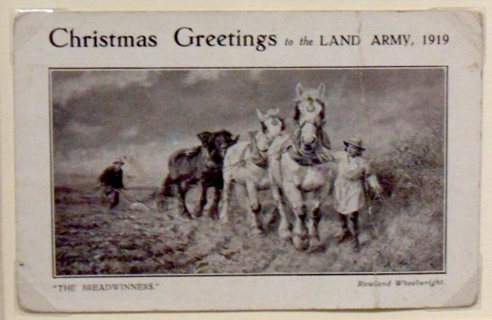 Christmas Greetings to the Land Army, 1919 Source: Gressenhall Farm and Workhouse