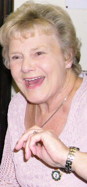 "Zeita enjoying a laugh at the launch, October 2008, of Stuart Antrobus's book ""We wouldn't have missed it for the world"" on the WLA in Bedfordshire in the 1940s."