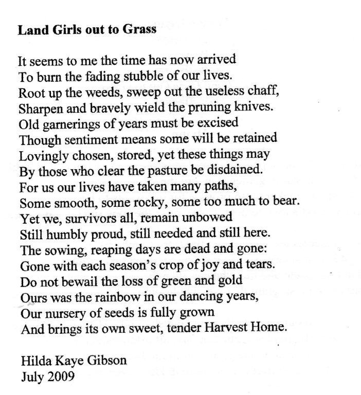 Land Girls out to Grass by Hilda Kaye Gibson