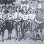 VE Day Post: Land Girls Celebrating VE Day
