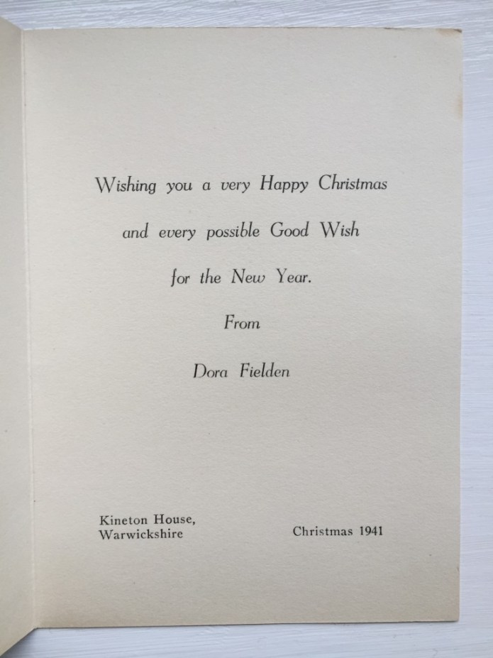 Warwickshire Women's Land Army Christmas Card Source: Catherine Procter Women's Land Army Collection