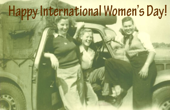 International Women's DayBetty Dugdale in Women's Land Army truck with friends Source: Betty's daughter, Elisabeth Sweeney