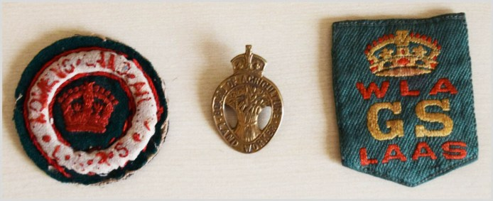 Martha Bagnal Women's Land Army First World War Badges