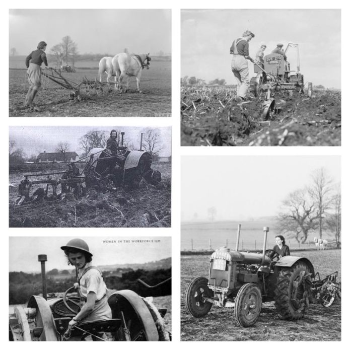 Women's Land Army Ploughing, Second World War