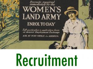 First World War Women's Land Army Recruitment