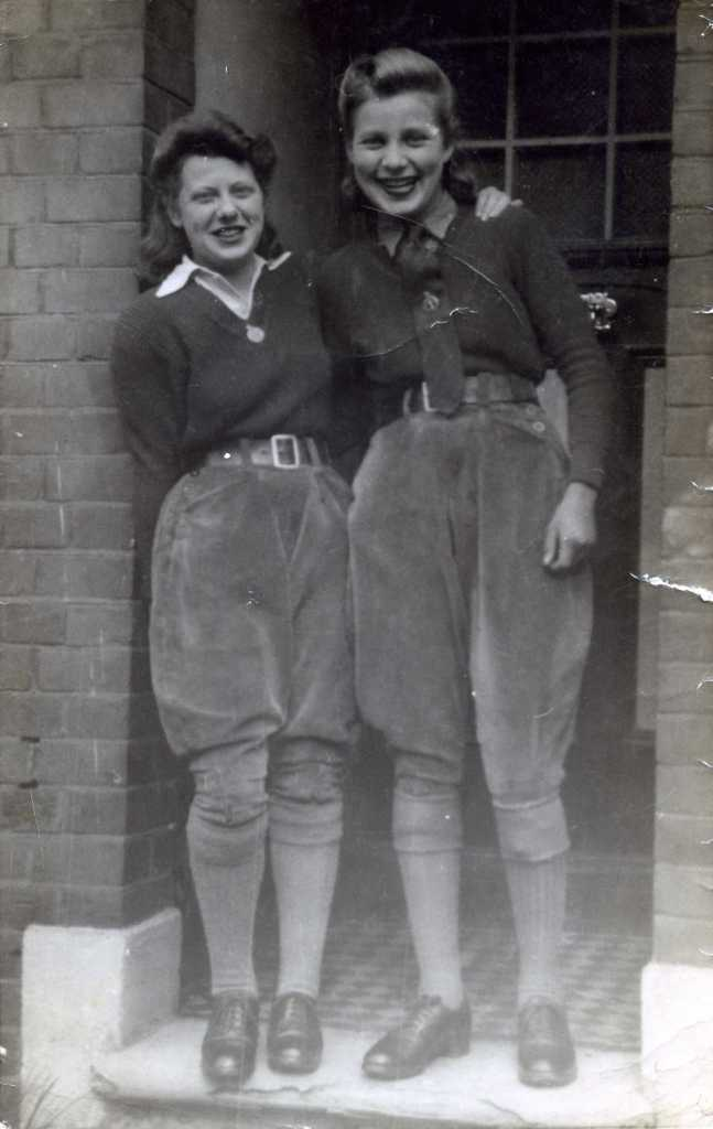 Mary Gibbs (on the left ) with Joyce, married name possibly Iverson.