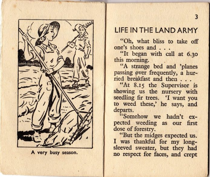Life in the Land Army Inside page 2-3