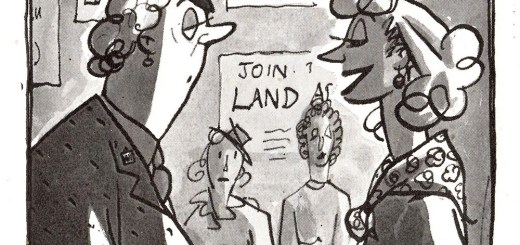 You Realise Miss Marden Cartoon, from 'Men Only', January 1940, Volume 25