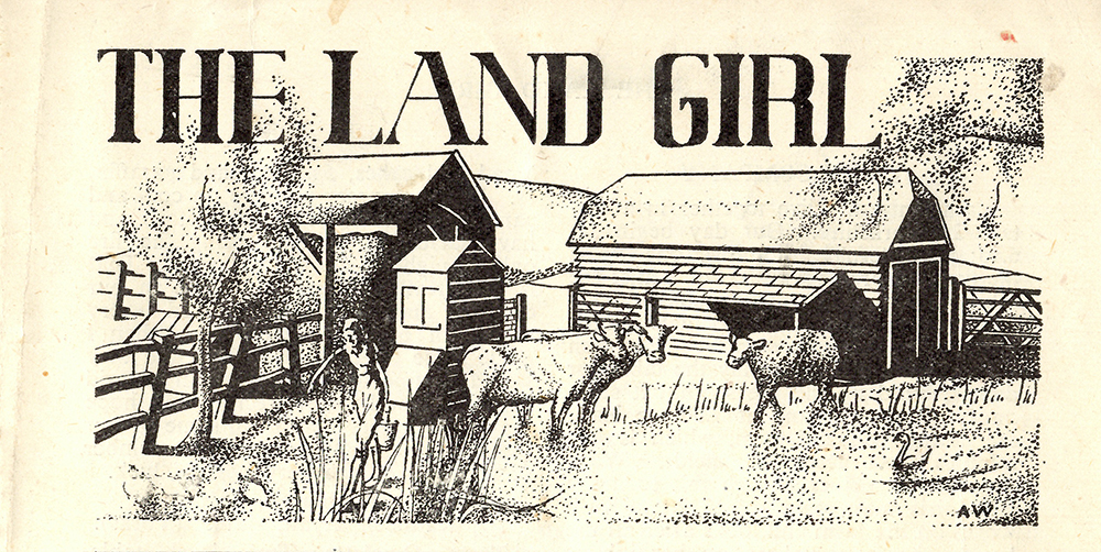 May 1943 edition, drawn by Land Girl, AW.