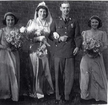 GI bride Eva Marriot marries Houston Johnson in Bedford in 1943.