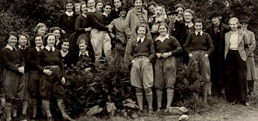 A group of smiling Land Girls.