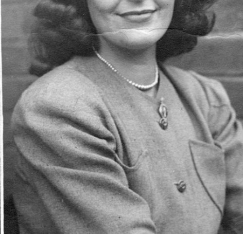 Dot Jeffereys, taken at Hereford in 1945