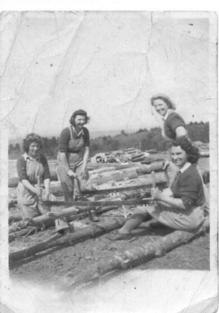 Lumber Jills who felled trees at Jubilee Mountain in Llanberis