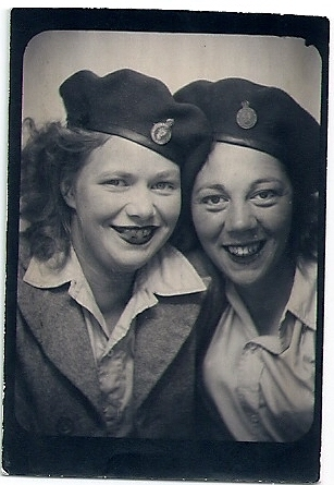 Daphne Yvonne Dupree with Land Girl wearing Lumber Jill beret