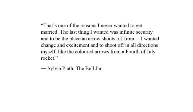 The Bell Jar text written by Sylvia Plath.