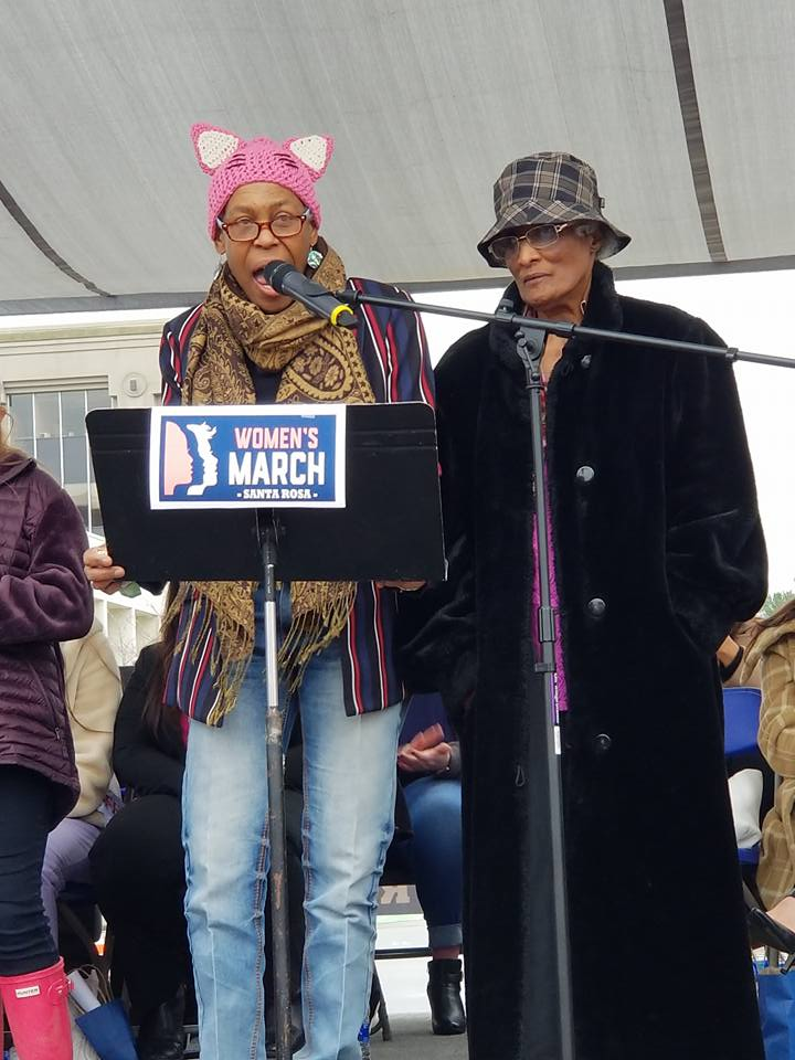 Santa Rosa Women's Rally 2019 speaker Celeste Austin Photo by Janeane Rose Sanborn