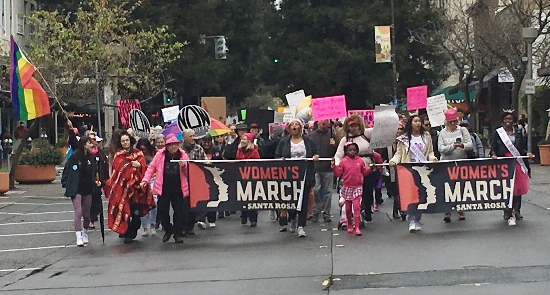 Santa Rosa Women's Rally and March 2019 lead banner