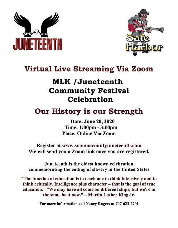 Juneteenth 50th in Santa Rosa June 20, 2020