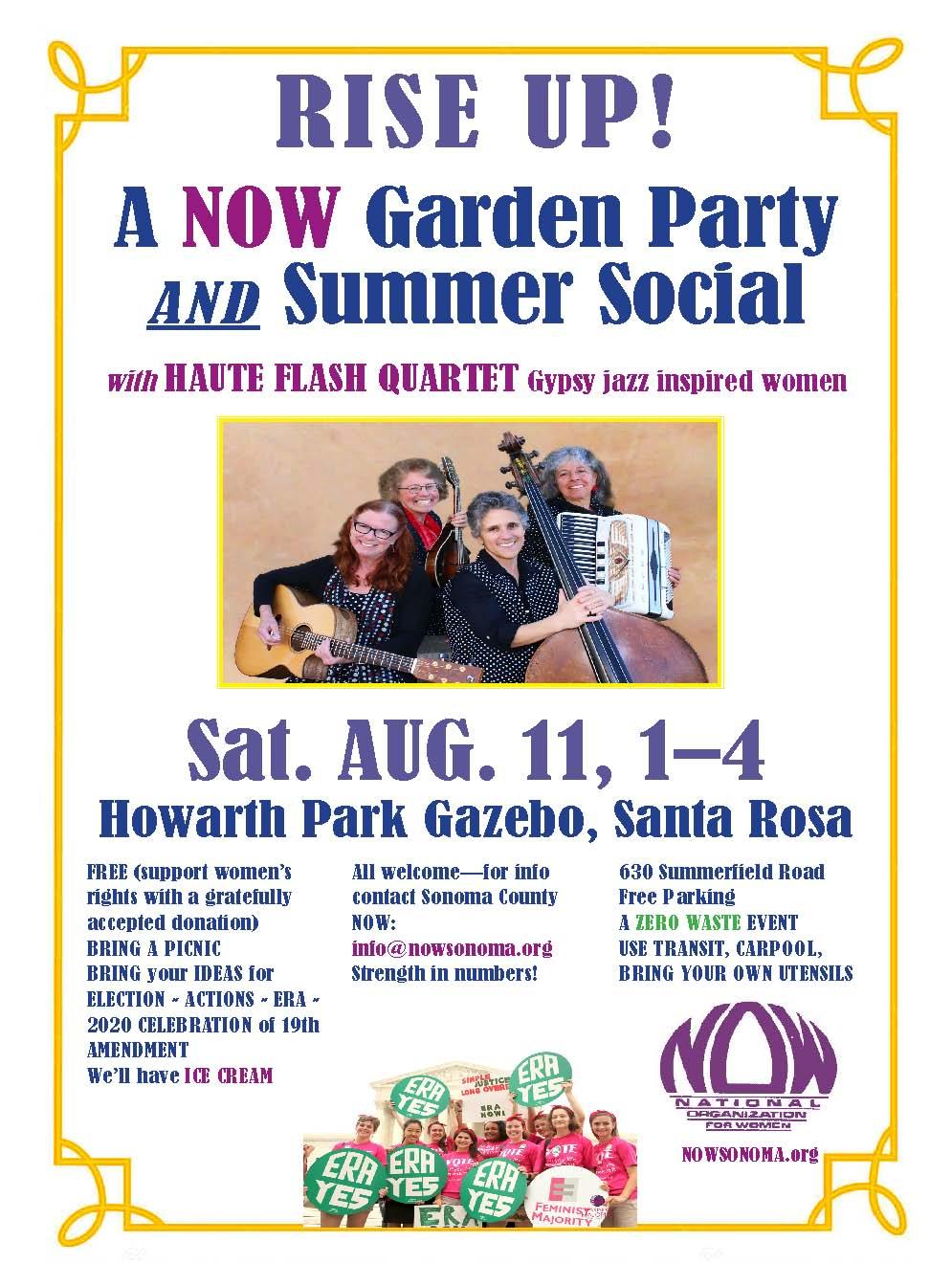 NOW Rise Up Garden Social