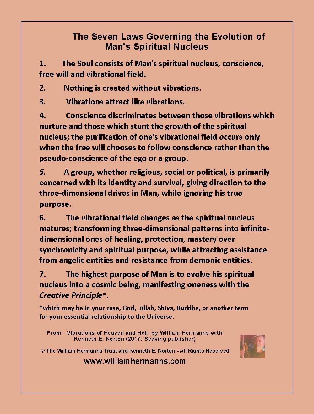 The Seven Laws Governing the Evolution of Man's Spiritual Nucleus