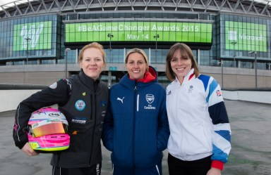 Alice Powell, Kelly Smith and Kate Richardson-Walsh