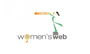 Women's Web I Stood Up Contest Logo