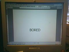 Boredom at work