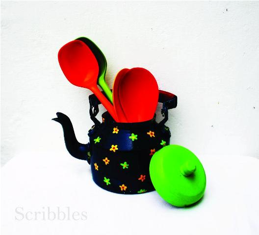 Hand painted kettle