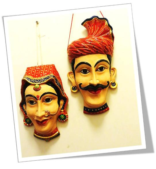 Hand painted tribal masks