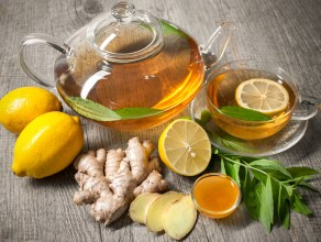 lemon ginger honey tea