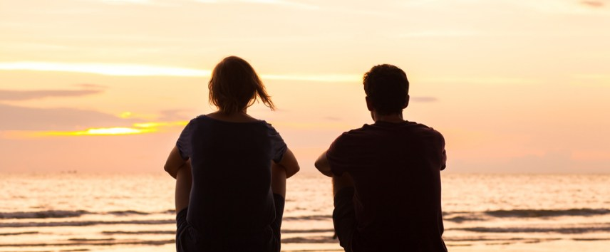 watching the sunset together