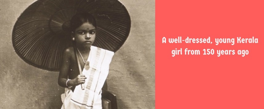 A young Kerala girl from 150 years ago