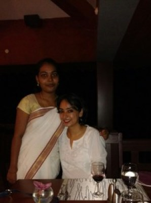 Dania and the author, Anusha