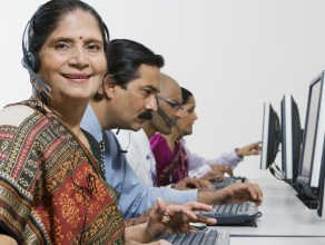 Indian woman at work