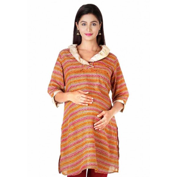 maroon cotton nursing kurta