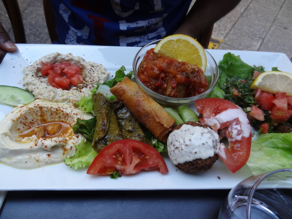 Falalfel vegetarian platter in Nice, France