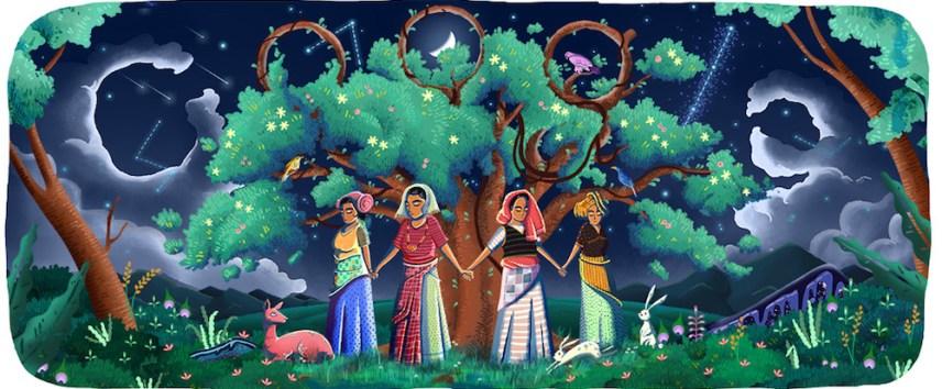 Indian women on Google Doodle