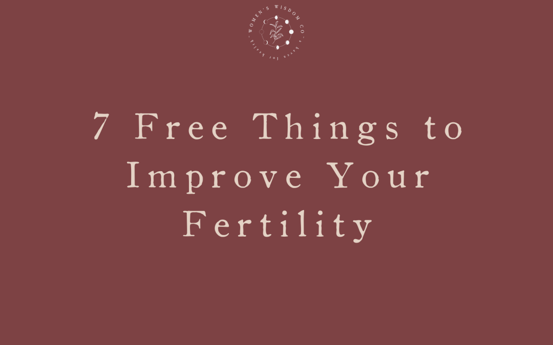 7 Free Things to Improve Your Fertility