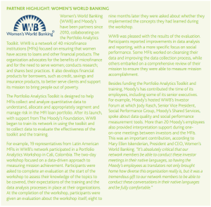 The Portfolio Analytics Toolkit was featured in Moody's Corporate Social Responsibility Report for 2012.