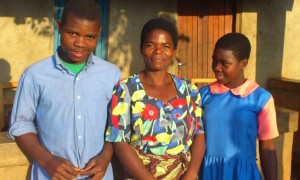 A family in Malawi