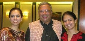 Samit Ghosh in Spain with Roshaneh Zafar and Shazreh