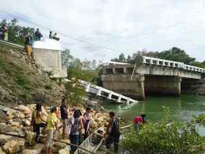 A bridge destroyed by Typhoon Yolanda (photo courtesy of CARD Bank)
