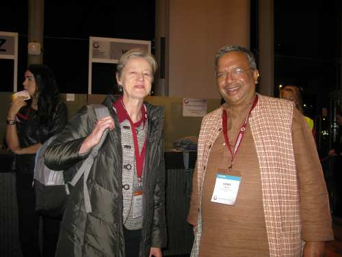 Samit Ghosh with Frances Sinha at an industry conference