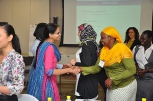 High-potential women leaders during the Women in Leadership Program (Mumbai, 2016)