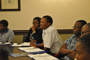 Group discussion at the Senior Management Program at NBS Bank